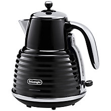 Buy De'Longhi Scultura Kettle and 4-Slice Toaster, Black Online at johnlewis.com