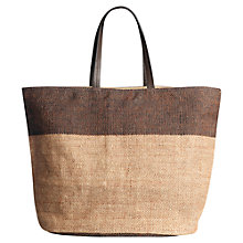 Buy Jigsaw Wanda Jute Tote Bag, Natural Online at johnlewis.com