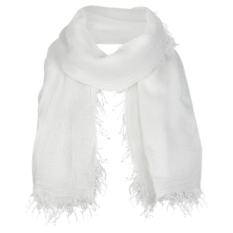 Buy Jigsaw Talla Scarf, White Online at johnlewis.com