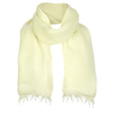 Buy Jigsaw Talla Scarf, Lemon Online at johnlewis.com