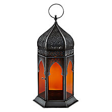 Buy John Lewis Punched Lantern, Amber, Small Online at johnlewis.com