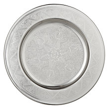 Buy John Lewis Round Metal Tray, Dia.24.5cm Online at johnlewis.com