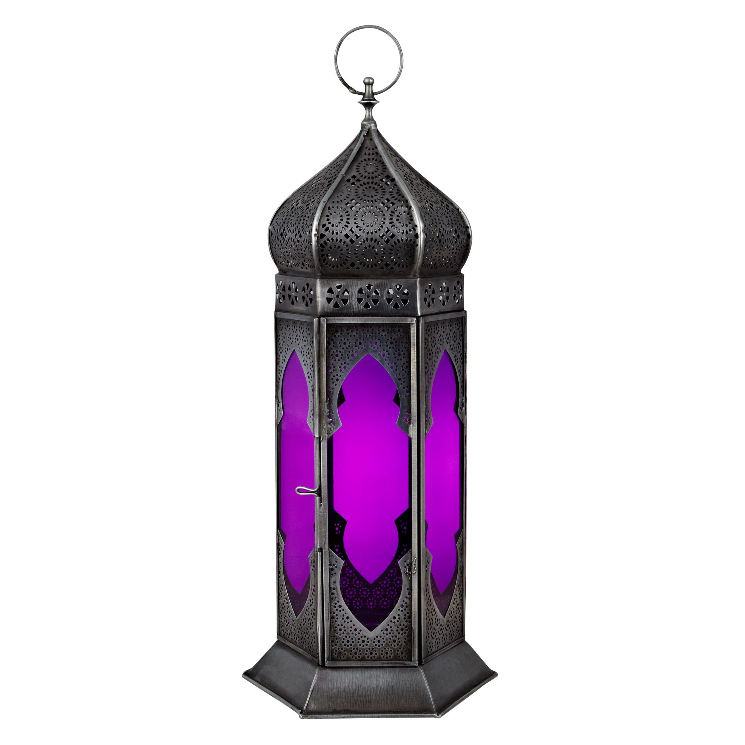 John Lewis Imperial Punched Lantern, Medium, Pink