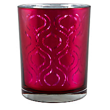 Buy John Lewis Ogee Votive Candle Holder, Fuchsia, Large Online at johnlewis.com