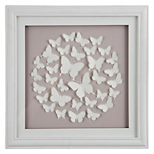 Buy John Lewis Butterfly Framed Print, Pink, 40 x 40cm Online at johnlewis.com