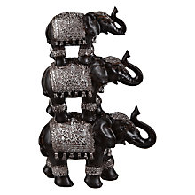 Buy Stacked Resin Elephants, Set of 3 Online at johnlewis.com