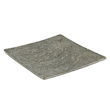 Buy John Lewis Slate Candle Plate, Small, Green Online at johnlewis.com