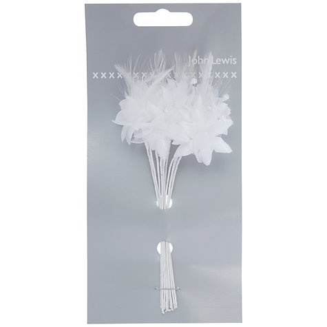 Buy John Lewis Feather and Baby's Breath Accessory Online at johnlewis.com