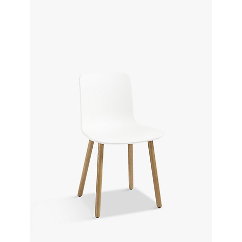 Buy Vitra HAL Chair, White/Wood Online at johnlewis.com