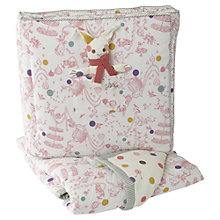 Buy Baby Joule Madhatter Quilt, Bumper and Toy, Pink Online at johnlewis.com