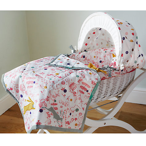 Buy Baby Joule Madhatter Moses Basket, Pink Online at johnlewis.com