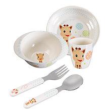 Buy Sophie the Giraffe Melamine Dinner Set Online at johnlewis.com