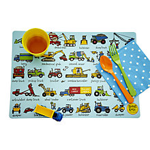 Buy Tyrrell Katz Working Wheels Placemat, Multi Online at johnlewis.com