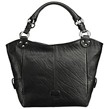 Buy OSPREY LONDON Harper Hobo Leather Shopper Handbag, Black Online at johnlewis.com