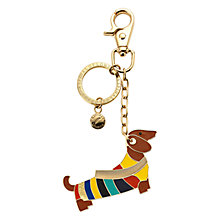 Buy Aspinal of London Dachshund Keyring, Gold Online at johnlewis.com