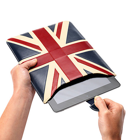 Buy Aspinal of London Brit iPad Sleeve, Multi Online at johnlewis.com