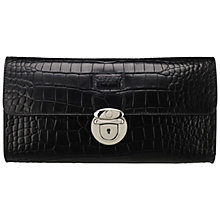 Buy OSPREY LONDON The Lamarr Crocodile Print Polished Clutch Bag, Black Online at johnlewis.com