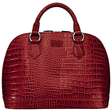 Buy OSPREY LONDON Large Ladybug Croc Print Grab Handbag Online at johnlewis.com
