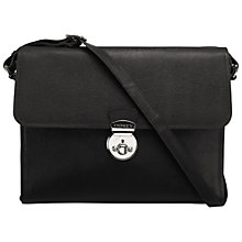 Buy OSPREY LONDON Hayworth Leather Across Body Bag, Black Online at johnlewis.com