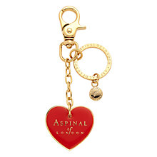 Buy Aspinal of London Heart Charm & Keyring, Red Online at johnlewis.com