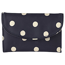 Buy Cath Kidston Folded Curve Wallet, Large Navy Spot Online at johnlewis.com