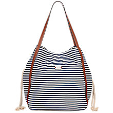 Buy Modalu Riviera Shoulder Handbag, Navy/White Online at johnlewis.com