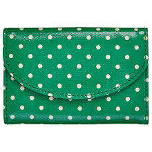 Buy Cath Kidston Mini Curve Wallet, Mini Green Dot Online at johnlewis.com