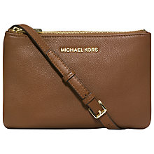 Buy MICHAEL Michael Kors Bedford Triple Gusset Leather Across Body Handbag Online at johnlewis.com