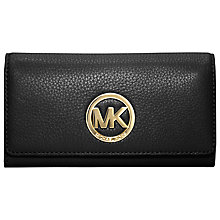 Buy MICHAEL Michael Kors Fulton Carryall Leather Purse, Black Online at johnlewis.com