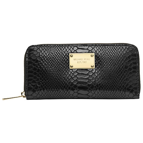 Buy MICHAEL Michael Kors Jet Set 18k Zip Around Continental Purse Online at johnlewis.com