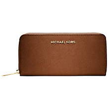 Buy MICHAEL Michael Kors Jet Set Travel Zip Around Continental Purse Online at johnlewis.com