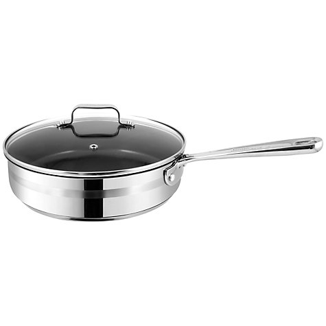 Buy Jamie Oliver Stainless Steel Saute Pan, Dia.25cm Online at johnlewis.com