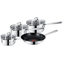 Buy Jamie Oliver Stainless Steel 4-Piece Pan Set Online at johnlewis.com