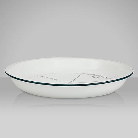 Buy John Lewis Motif Pie Dish, Dia.30cm, White Online at johnlewis.com