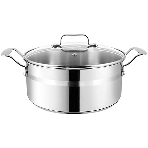 Buy Jamie Oliver Stainless Steel Stockpot, Dia.24cm Online at johnlewis.com