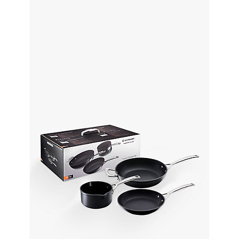 Buy Le Creuset Toughened Non-Stick Milkpan and Frying Pan 3 Piece Set Online at johnlewis.com