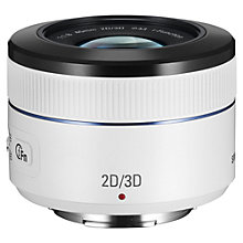 Buy Samsung NX 45mm f/1.8 - 3.5 2D/3D Telephoto Lens, White Online at johnlewis.com