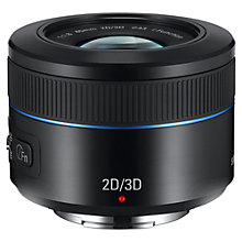 Buy Samsung NX 45mm f/1.8 - 3.5 2D/3D Telephoto Lens, Black Online at johnlewis.com