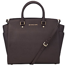 Buy MICHAEL Michael Kors Selma North/South Leather Tote Handbag Online at johnlewis.com