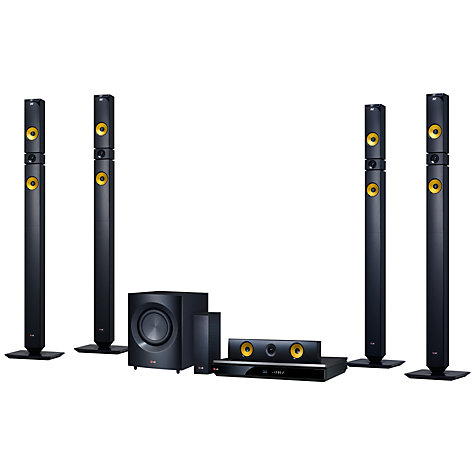 Buy LG BH9530TW 9.1 3D Blu-ray/DVD 4K Smart Home Cinema System, Black/Yellow Online at johnlewis.com