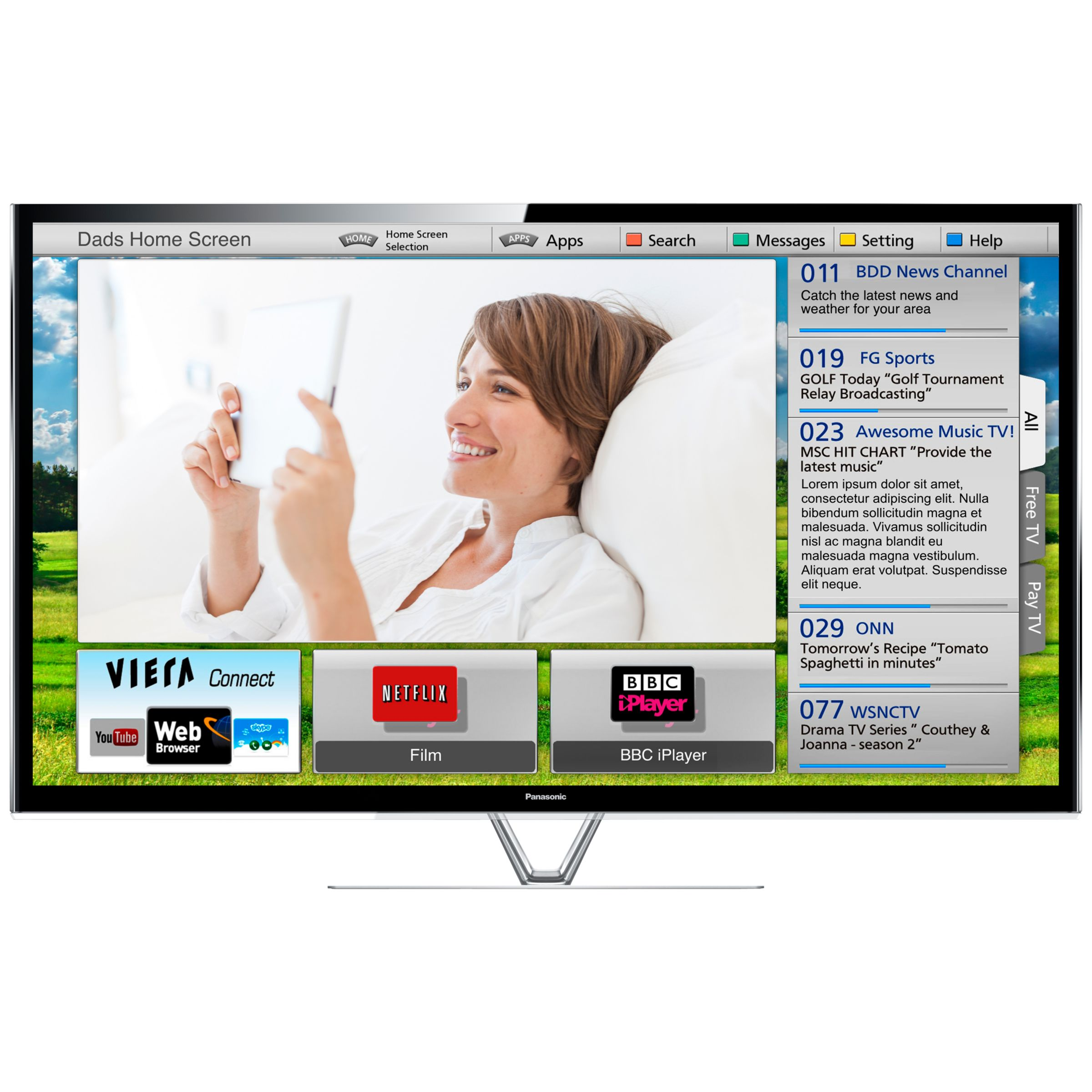 Panasonic Viera TXP65VT65B Plasma HD 1080p 3D Smart TV 65&quot FreeviewFreesat HD and Voice Recognition with 2x 3D Glasses
