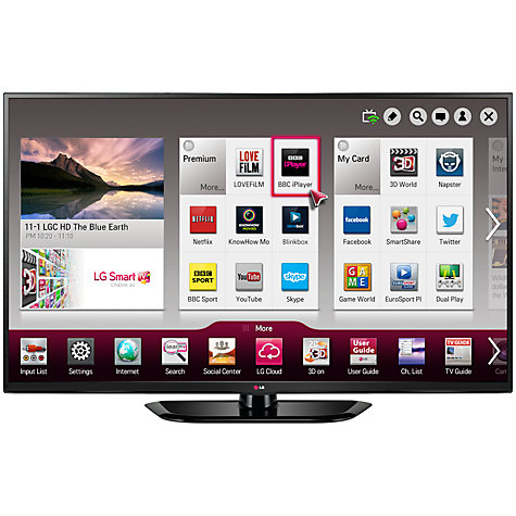 "Buy LG 60PH660V Plasma Full HD 1080p 3D Smart TV, 60"" with Freeview HD Online at johnlewis.com"
