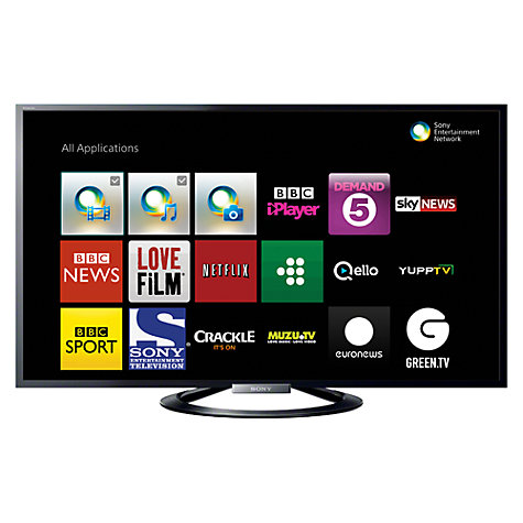 "Buy Sony Bravia KDL55W805 LED HD 1080p 3D Smart TV, 55"", NFC with Freeview HD with FREE Sony BDP-S5100 Blu-ray Disc/DVD Player Online at johnlewis.com"
