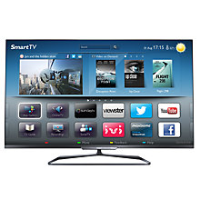 Buy Philips 55PFL6008S LED HD 1080p 3D Smart TV, 55 Inch with Freeview HD & 4x 3D Glasses Online at johnlewis.com
