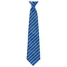 Buy The South Wolds Academy & Sixth Form Boys' Clip-On Tie, Royal Blue/White Online at johnlewis.com