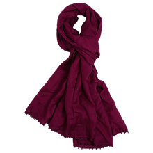 Buy Alexon Bead Trimmed Pashmina, Dark Red Online at johnlewis.com