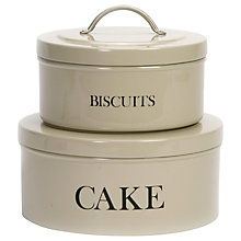 Buy Garden Trading Stackable Cake and Biscuit Tins, Set of 2 Online at johnlewis.com
