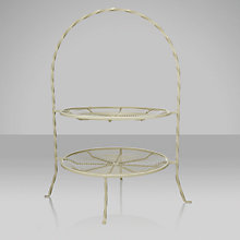 Buy Garden Trading 2 Tier Wire Cake Stand, Clay Online at johnlewis.com