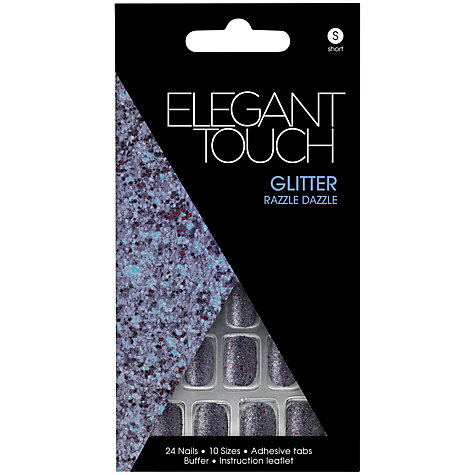 Buy Elegant Touch Razzle Dazzle Glitter Nails, Pack of 24 Online at johnlewis.com