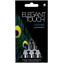 Buy Elegant Touch Feather Design Nails, Pack of 24 Online at johnlewis.com
